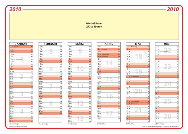 arbeitskalender